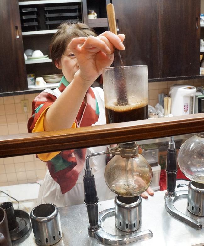 茉莉花 サイフォン コーヒー