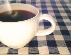 朝に飲むコーヒー